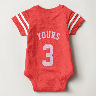 Backside Red & Light Pink Baby | Sports Jersey Shirts