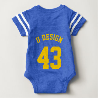 Backside Royal Blue & Yellow Baby   Sports Jersey Tshirts