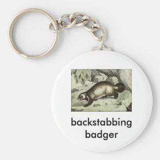 backstabbing badger key ring