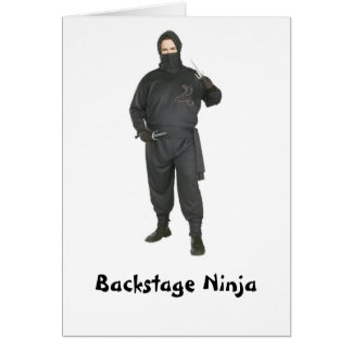 Backstage Ninja Card