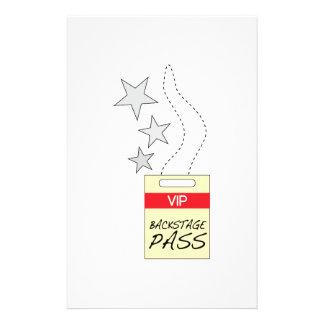 Backstage Pass Custom Stationery