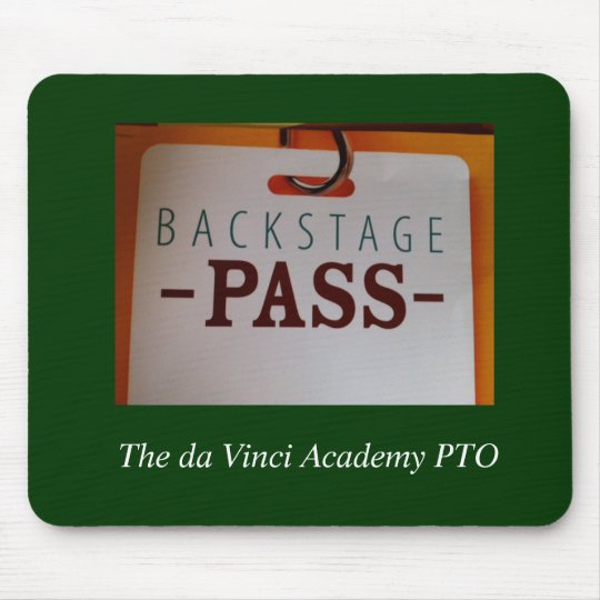 Backstage Pass mouse pad