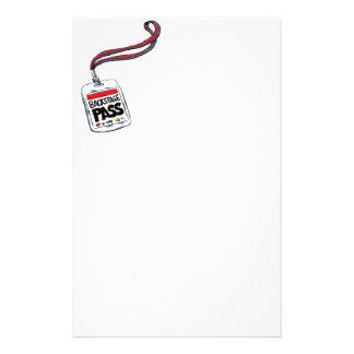 Backstage Pass Personalized Stationery