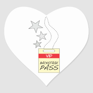 Backstage Pass Heart Stickers