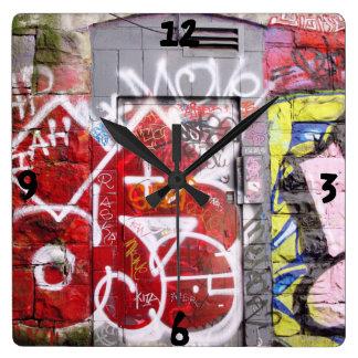 Backstreet Alley Graffiti Wallclock