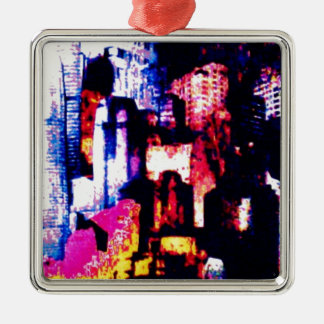 backstreets of the New York landscape Christmas Ornament