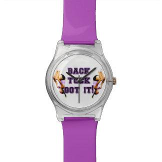 Backtuck gymnastics purple wrist watch