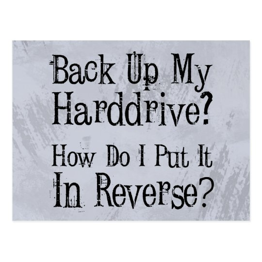 Backup Humour Postcard