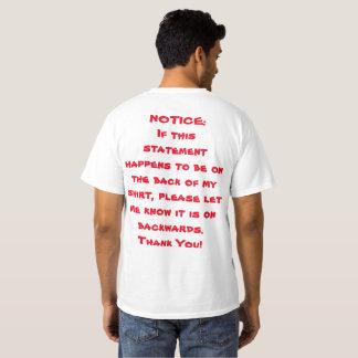 """Backwards"" T-Shirt"