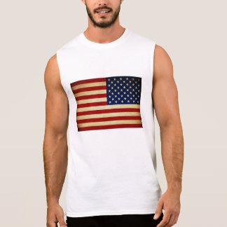 Backwards Vintage American Flag Sleeveless T-shirt
