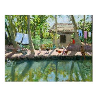 Backwaters India Postcard
