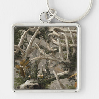 Backwoods deer skull camo key ring