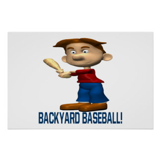 Backyard Baseball Print