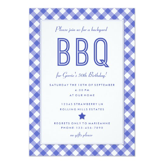 Backyard BBQ | Barbecue Party Invitation