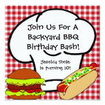 Backyard BBQ Birthday Invitation 13 Cm X 13 Cm Square Invitation Card