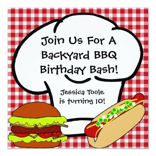 Backyard BBQ Birthday Invitation