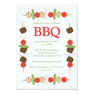 Backyard BBQ Card