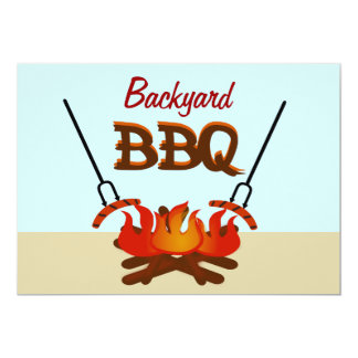 Backyard BBQ Get Together Party Invitation