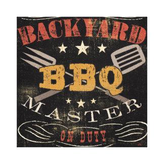 Backyard BBQ Master Canvas Print