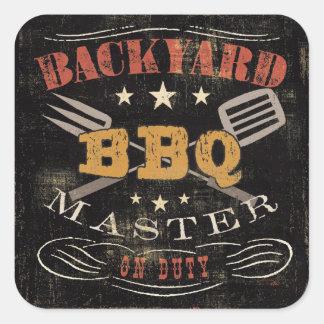 Backyard BBQ Master Square Sticker