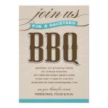 BACKYARD BBQ  | PARTY INVITATION 13 CM X 18 CM INVITATION CARD