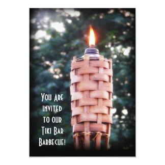 Backyard BBQ Tiki Torch! 13 Cm X 18 Cm Invitation Card