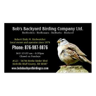 Backyard Bird Supply Business with Wild Bird Pack Of Standard Business Cards