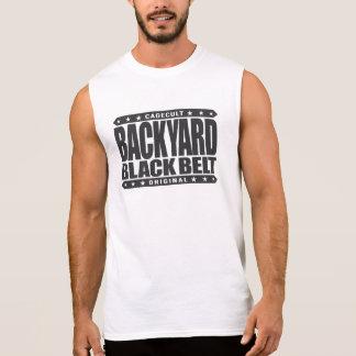 BACKYARD BLACK BELT - I Love Jiu-Jitsu BJJ, Black Sleeveless T-shirts