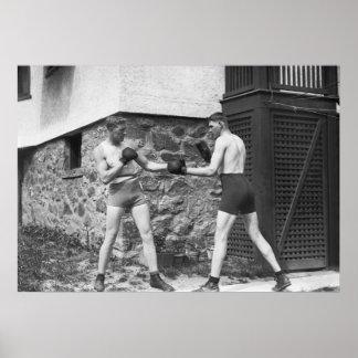 Backyard Boxing: 1912 Poster