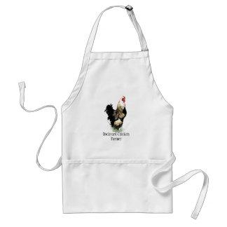 Backyard Chicken Farmer Quote  Rooster Design Standard Apron