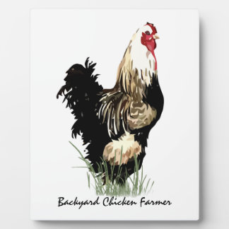 Backyard Chicken Farmer with Rooster Design Plaque
