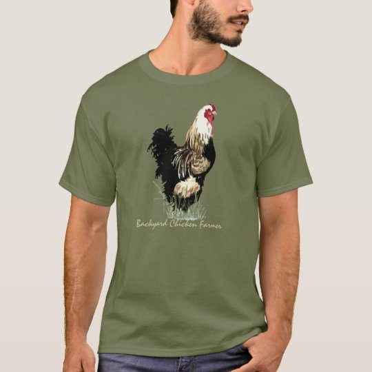 Backyard Chicken Farmer with Rooster Design T-Shirt