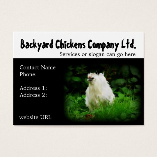 Backyard Chickens or Eggs Supply Business Cards