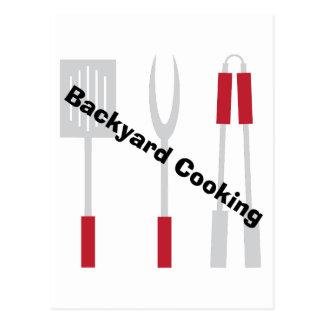 Backyard Cooking Postcard