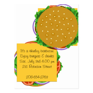 Backyard Cookout Invitation Postcards