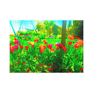 Backyard Garden Canvas Print