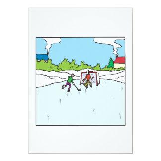 Backyard Hockey 13 Cm X 18 Cm Invitation Card