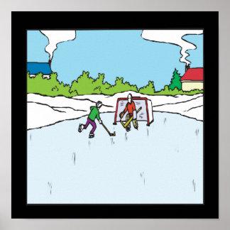 Backyard Hockey Print