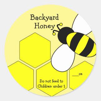 Backyard Honey Label