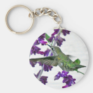 Backyard Hummingbird Basic Round Button Key Ring