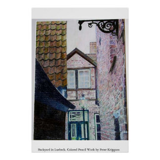 Backyard in Luebeck Poster