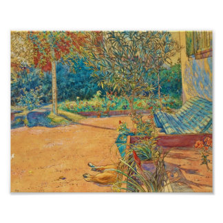 Backyard in the Summer Poster