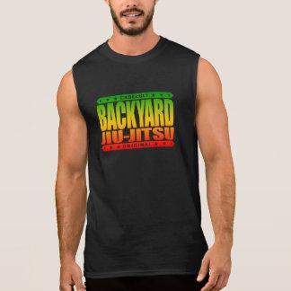 BACKYARD JIU-JITSU - I Love BJJ Grappling, Rasta Sleeveless T-shirt