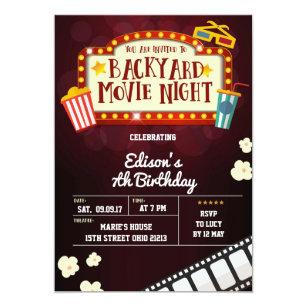 Kids Movie Party Invitations Stationery Zazzle Uk