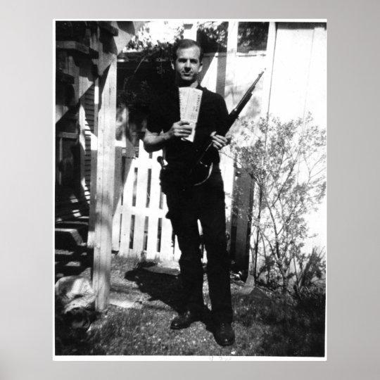 Backyard Photo of Lee Harvey Oswald in March