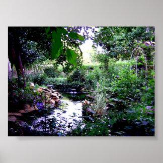 Backyard Pond Poster