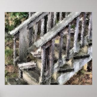 Backyard Stairs Print