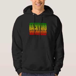 BACKYARD WARRIOR - I am Fighter of the Hood, Rasta Hooded Pullovers