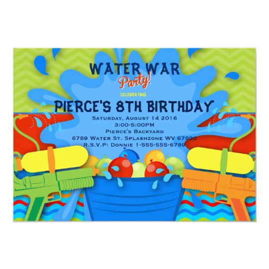 Backyard Water Party Invitation