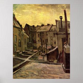 Backyards of Old Houses, Antwerp; Vincent van Gogh Poster